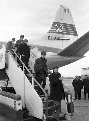 Irish Rock Band Photograph - The Beatles Arrive In Ireland 1963 by Irish Photo Archive