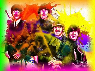 The Beatles Grunge Art Print