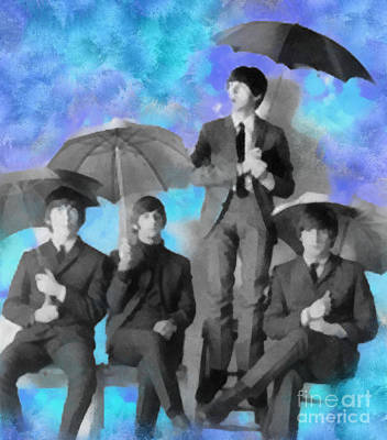 Digital Art - The Beatles by Paulette B Wright