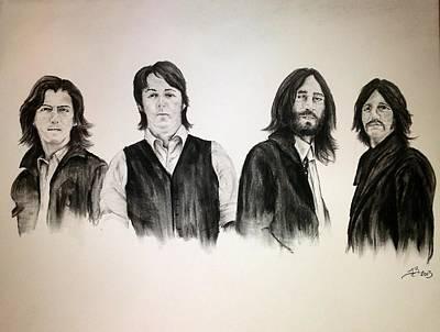 Mccartney Drawing - The Beatles by Tim Brandt