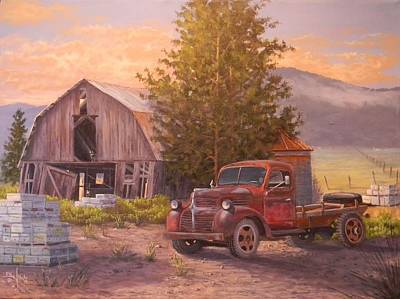 Painting - The Beekeepers Barn by Paul K Hill