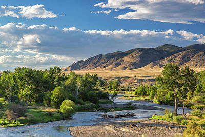 The Big Hole River Near Glen, Montana Art Print