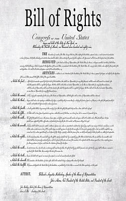 The Bill Of Rights H K Print by Daniel Hagerman