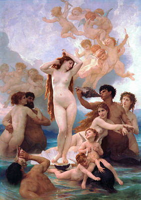 William Bouguereau Painting - The Birth Of Venus by Adolphe-William Bouguereau