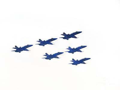 Photograph - The Blue Angels by Ed Weidman