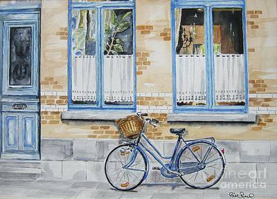The Blue Bicycle Art Print