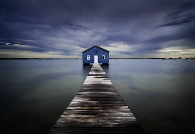 The Blue Boatshed Art Print
