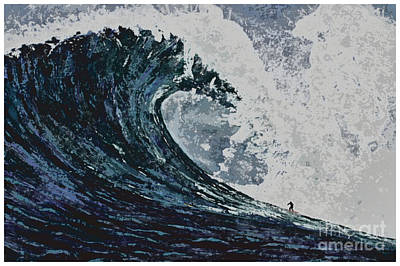 Hawaii Painting - The Blue Crush by RJ Aguilar