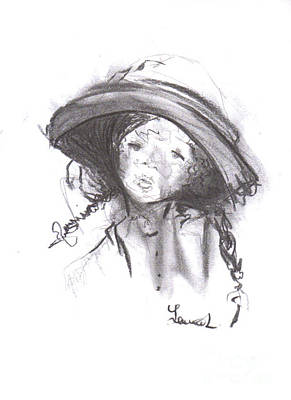 Drawing - The Bonnet by Laurie L