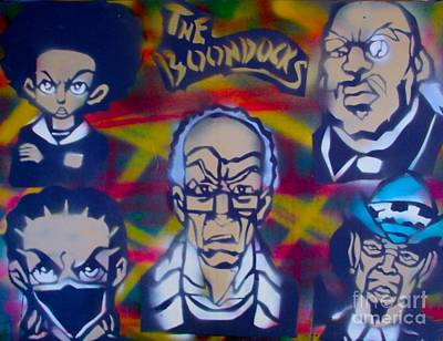 First Amendment Painting -  All In The Boondocks Family by Tony B Conscious