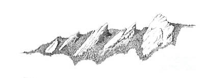 Mountain Drawings - The Boulder Flatirons by Jerry McElroy