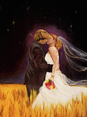 Bride And Groom Painting - The Bride by Jeanette Sthamann