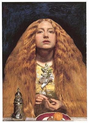 Bridesmaid Painting - The Bridesmaid by John Everett Millais