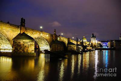 The Bridge Across Art Print by Syed Aqueel