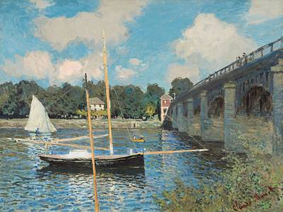 Old Masters Landscape Painting - The Bridge At Argenteuil by Claude Monet