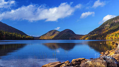 Photograph - The Bubbles And Jordan Pond. by New England Photography