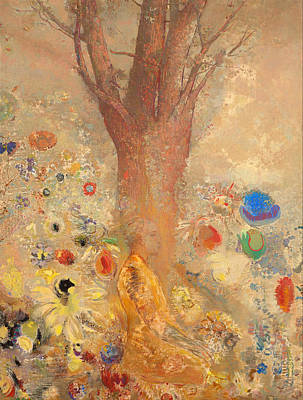 Religious Artist Painting - The Buddha by Odilon Redon