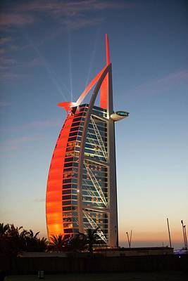 Dhow Photograph - The Burj Al Arab Hotel by Ashley Cooper
