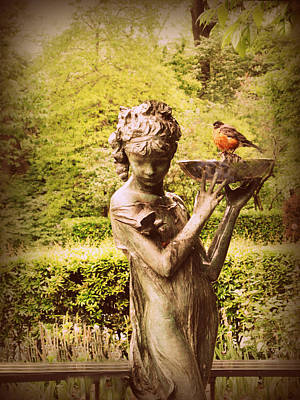 Bird Bath Photograph - The Burnett Fountain by Jessica Jenney