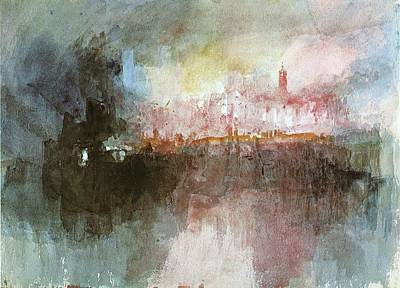 Mallord Turner Painting - The Burning Of The Houses Of Parliament by J M W Turner