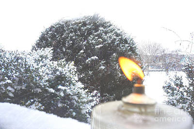 Romantic Photograph - The Candle In The Snow by Celestial Images