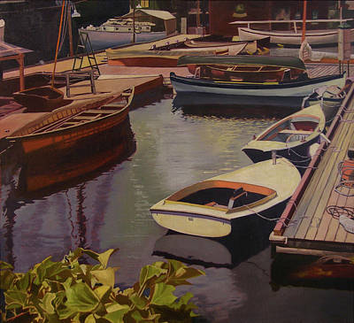 The Canvas Boat Art Print by Thu Nguyen
