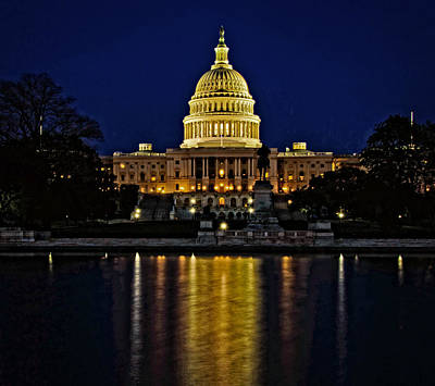 Photograph - The Capitol Blues by Kathi Isserman