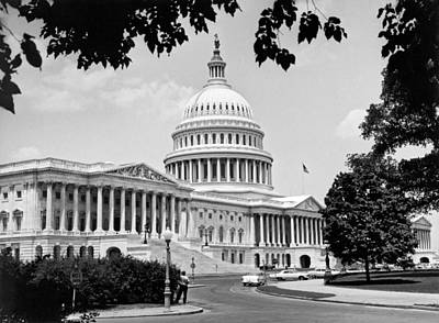 Sixties Photograph - The Capitol Building by Underwood Archives