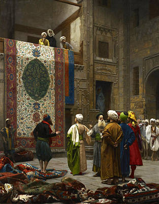 Jean-leon Gerome Painting - The Carpet Merchant by Jean-Leon Gerome
