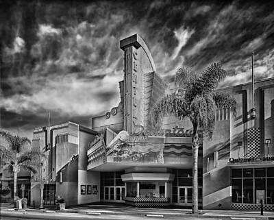Ventura California Photograph - The Century Theatre In Ventura by Mountain Dreams