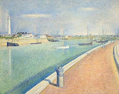 Pointilist Painting - The Channel Of Gravelines by Georges Seurat