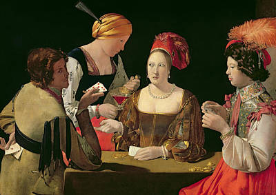 Coins Painting - The Cheat With The Ace Of Diamonds by Georges de la Tour