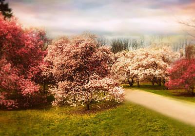 Soft Digital Art - The Cherry Orchard by Jessica Jenney