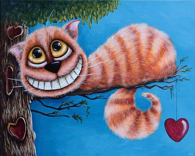 Cheshire Cat Painting - The Cheshire Cat by Lucia Stewart