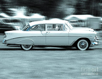 The Chevy Bel Air  Art Print by Steven Digman
