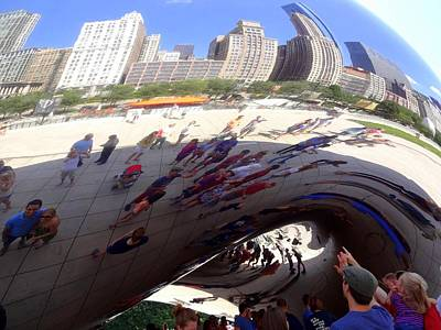 Photograph - Cloud Gate Aka The Chicago Bean by Donna Spadola