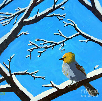 Painting - The Chilly Verdin by Whitney Morton