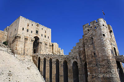 Gatehouse Photograph - The Citadel Of Aleppo Syria by Robert Preston