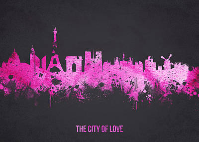 Painted Mixed Media - The City Of Love by Aged Pixel