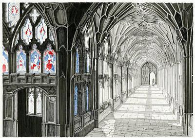 The Cloisters Art Print by John Simlett