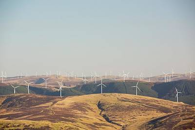 The Clyde Windfarm Art Print by Ashley Cooper