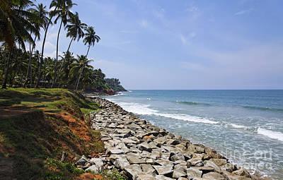 The Coast At Varkala In Kerala India Art Print by Robert Preston