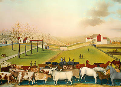 Beautiful Vistas Painting - The Cornell Farm by Mountain Dreams