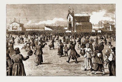The Coronation Of The Czar Of Russia, 1883 The Peoples Fete Art Print by Litz Collection