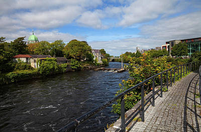 River Corrib Photograph - The Corrib Walk Beside The River by Panoramic Images