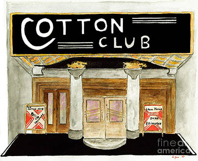 The Cotton Club Art Print by AFineLyne
