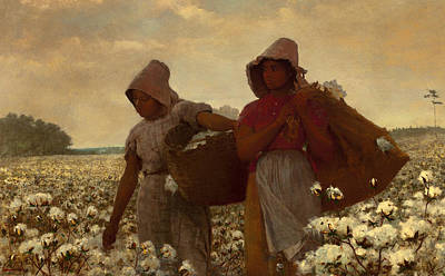 The Cotton Field Painting - The Cotton Pickers by Winslow Homer