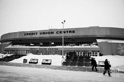the credit union center Saskatoon Saskatchewan Canada Art Print