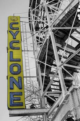 Cyclone Rollercoaster Photograph - The Cyclone by JC Findley