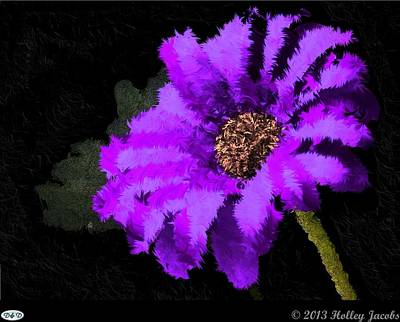 Digital Art - The Dance Purple by Holley Jacobs